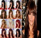 "19"" Natural Straight Wig Layered Full Head Party Hair Women Wig Heat Resistant"