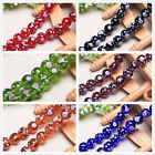 14mm Round Glass Charms Jewelry Findings Flower Spot Lampwork Loose Spacer Beads