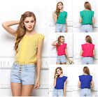 Fashion Women Summer Casual Chiffon Tops Tanks Short Sleeve Loose T-Shirt Blouse