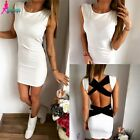 Women's Summer Bandage Bodycon Backless Evening Party Cocktail Mini Dress 6-16