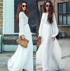 New Sexy Women Summer Long Maxi BOHO Evening Party Dress Beach Dresses Sundress