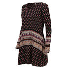 Womens Summer-Casual Loose Long Sleeve FloralCocktail Short Mini Shirt Dress