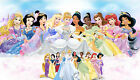 Disney Princess canvas Picture,Original or WITH GLITTER- DIAMOND DUST! Wall art.