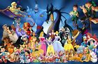Disney Family canvas  Picture,Original or WITH GLITTER- DIAMOND DUST! Wall art.