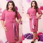Summer Women Mini Bodycon Dress Party Cocktail Formal Dress With Belt Plus Size