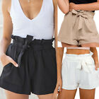 Women Sexy Crepe Woven Tie Pants Summer Casual Shorts High Waist Short 6-14 #LZ