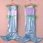 Kid Girls Mermaid Costume Princess Sleeveless Party Pageant Prom Dress 3-10T lin