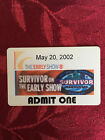 SURVIVOR CBS TV Show Finale Pass - Many seasons available each with buff logo