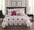 11 Piece Inspire Berry/Taupe Bed in a Bag Set