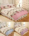 Countus Floral Flowers Roses Cream White Duvet Quilt Set And Pillow Case(s)