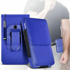 Premium PU Leather Belt Pouch Holster Case & Pen For Samsung Galaxy On7