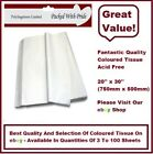 WHITE - LUXURY QUALITY COLOURED TISSUE PAPER ACID FREE - 750mm x 500mm