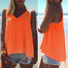 Ladies Summer Cami Sexy V Neck Backless Vest Tank Tops Blouse T-Shirt Womens