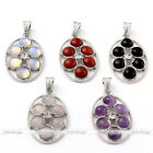 WomenS Amethyst Agate Rose Quartz Gemstone Ball Bead Pendant For Necklace DIY