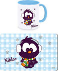 Breakfast Board and Cup - Set for Men | Snow Owl | Cup | Cutting Board