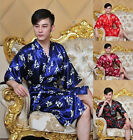 Cozy Chinese Style Men's Silk Bathrobe Robe/gown SZ S M L XL XXL
