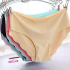 Womens Invisible Seamless Soft Thong Lingerie Briefs Hipster Underwear Panties