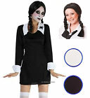 Creepy Scary SchoolGirl School Girl Halloween Fancy Dress Costume Wig Face Paint