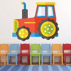 Red Tractor Childrens Wall Sticker Ws-41200