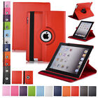 Luxury 360 Rotating Magnetic PU Leather Smart Stand Case Cover For iPad 2 3 4