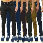 Mens Super Skinny Chinos Pants Stretch Cotton Trousers Jeans Designer Bottoms