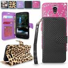 ZTE Obsidian Z820 New Luxury Pu Leather Flip Stand Wallet Card Pocket Case Cover