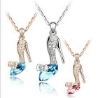 1Pc Women Fashion Crystal High Heel Shoes Pendants Necklaces Clavicle Jewelry