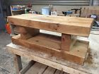 Chunky Rustic Solid Oak Sleeper Coffee Table / TV Unit Various Sizes Available