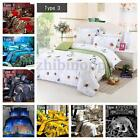 4PCS 3D Bedding Quilt Cover Bed Sheet Pillowcases Set For 1.5-2M Bed Comfortable