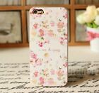 Vintage Lovely Color Flower Floral Case Cover  for Apple iPhone 4 4s 5 5s