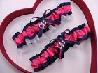 NEW Gorgeous Hot Pink Navy Blue White Wedding Garter Prom Homecoming Dance