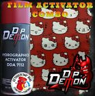 KITTY CAT RED BACKGROUND WATER TRANSFER HYDROGRAPHIC FILM ACTIVATOR HYDRO COMBO