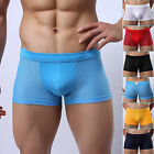 Men's Smooth Underpants Shorts Sexy Underwear Boxer Briefs Thong Lingerie Trunks