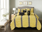 11 Piece Harley Yellow/Black Bed in a Bag Set