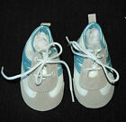 "Secrist  Leatherette Suede Tennis Shoes Blue & White 3"" Long by 1 1/2"" Wide"