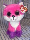 "TY BEANIE BABY BEANIE BOO~JOEY THE PINK FOX 6""~2016 CLAIRES EXCLUSIVE~NEW! MWMT!"
