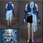 Final Fantasy Yuna Lenne Song Blue Cosplay Costume Christmas