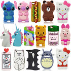 New 3D Cartoon Minnie Soft Silicone Rubber Case Cover For iPhone & Samsung & LG