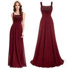 KK New Sleeveless Sequined Chiffon Bridesmaid Ball Gown Evening Prom Party Dress