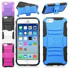 Heavy Duty Rugged Armor Impact Hybrid Stand Dual Holster Case For iPhone 6 6S