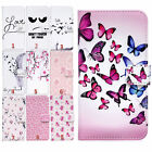 Leather Printed For Samsung Phone Card Slot Flip Pouch Wallet Case Cover Stand