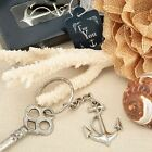 6 X Ocean Themed Anchor Keyring Keychain Wedding & Party Bag Filler Favours