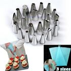 Pastry Icing Piping Nozzles Reusable Bag Cupcake Tips Cake Modelling DIY Tool #M