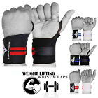Padded Wrist Wraps Weight Lifting Training Gym fitness Support Grip Gloves