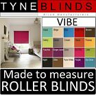 ROLLER BLINDS - straight edge VIBE fabric - made to your exact size.