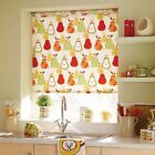 ROLLER BLINDS - straight edge - PEARS RED FABRIC made to your exact size.