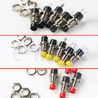 """""""5PCS Black Red Yellow Mini Lockless Momentary ON/OFF Push button Switch EW"""