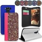 For LG V10 / G4 Pro Rock Crystal Diamond Leather Wallet Flip Stand Case Cover