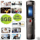 140hr. Rechargeable 8GB Digital Audio/Sound/Voice Recorder Dictaphone MP3 Player