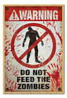 Warning Do Not Feed The Zombies Large Magnetic Notice Memo Board Inc Magnets